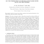 ON THE PREDICTION OF SHEAR-LAYER FLOWS WITH RANS AND SRS MODELS